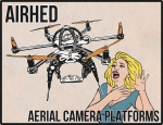 Dron scaring woman vector illustration