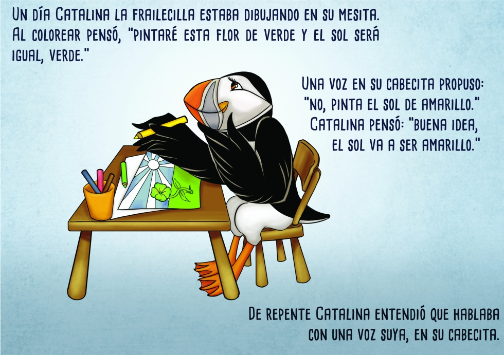 puffin children's book illustration