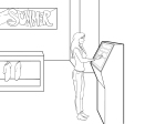 Woman shoping illustration