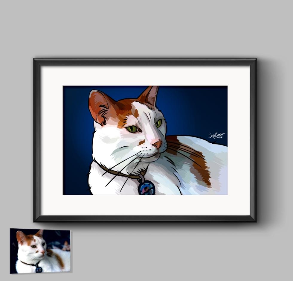 Pet illustration cat